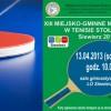 turniej tenisa stołowego 2013