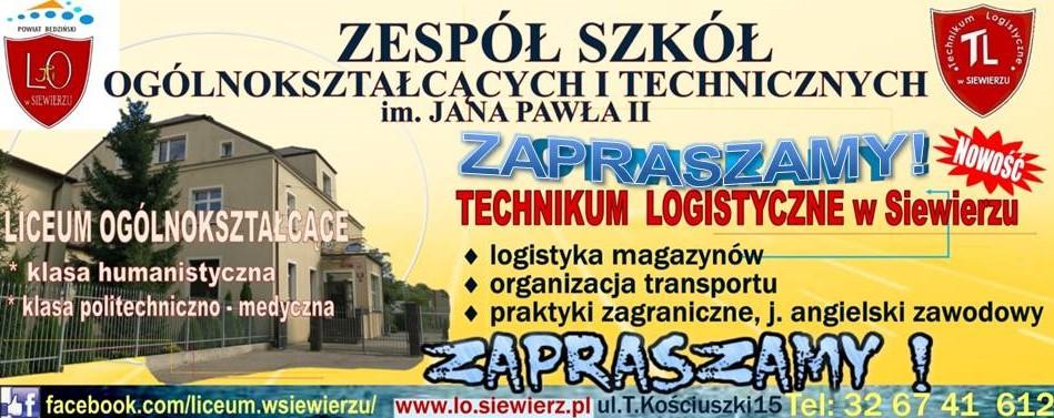 tECHNIKUM lOGISTYCZNE BANER 2A